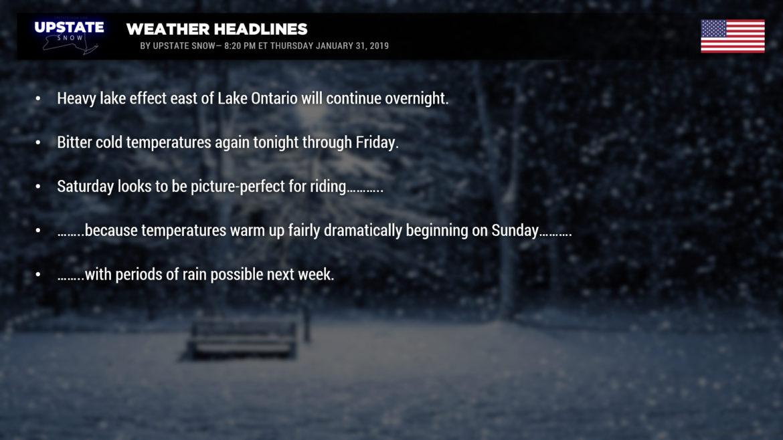 01/31/2019--Weather Update | Upstate Snow